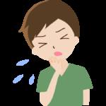 咳やくしゃみをしている男性のイラスト
