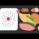 鮭弁当のイラスト