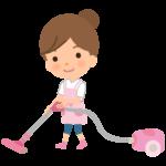 掃除機をかける主婦・ハウスキーパーさんのイラスト