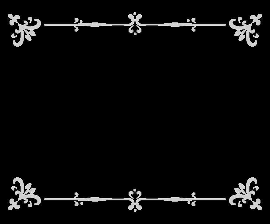 エレガントなシルバー風のフレーム・飾り枠のイラスト