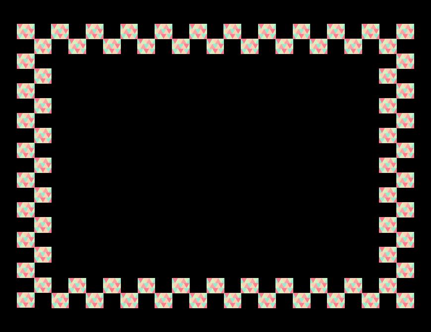 四角い模様・デザインのフレーム・飾り枠のイラスト