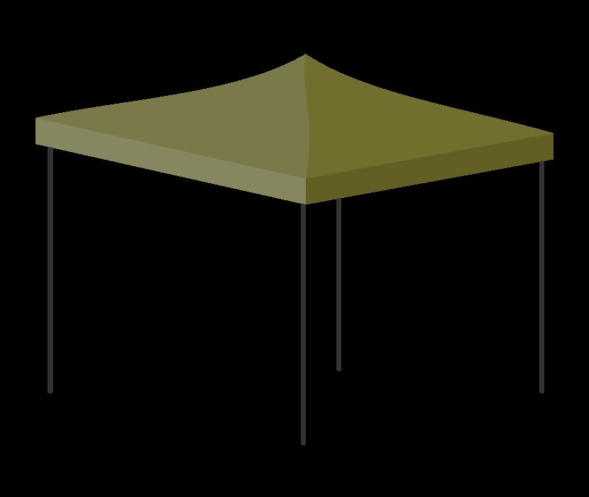 アウトドア・タープテントのイラスト