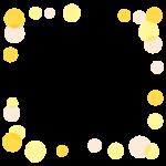 手書き風の泡のフレーム・飾り枠のイラスト
