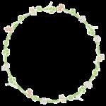 手書き風クローバーのサークルのフレーム・飾り枠のイラスト