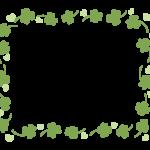 手書き風のクローバーのフレーム・飾り枠のイラスト