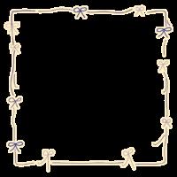 かわいい手書き風のリボンのフレーム・飾り枠のイラスト