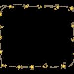 手書き風の星のフレーム・飾り枠のイラスト