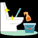 掃除して綺麗になったトイレのイラスト