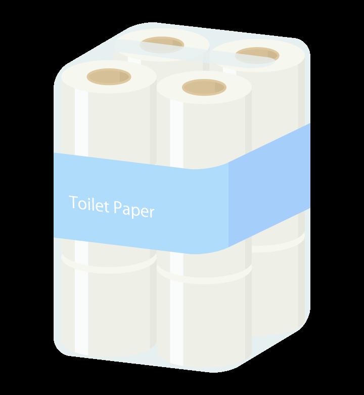 トイレットペーパーのイラスト02