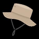 アウトドア用の帽子のイラスト