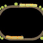 かわいい電車の線路フレーム・飾り枠のイラスト