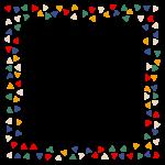 三角模様のカラフルなフレーム・飾り枠のイラスト
