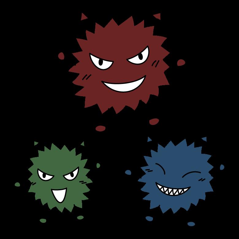 ウイルス菌・ばい菌のキャラクターのイラスト02