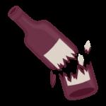 割れた瓶のイラスト