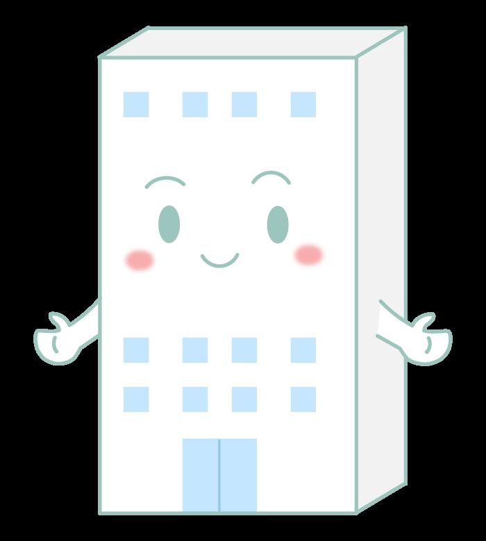 ホワイト企業のキャラクターのイラスト
