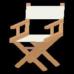 木製のディレクターズチェアのイラスト