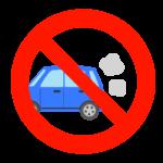 車のアイドリング禁止のイラスト