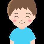 ニッコリ笑顔の男の子のイラスト