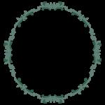 円形のエレガントなデザインのフレーム・飾り枠のイラスト
