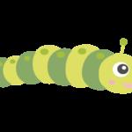 かわいい青虫のイラスト