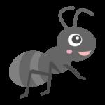 かわいい笑顔の蟻さんのイラスト