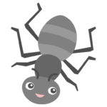 かわいい蟻のイラスト