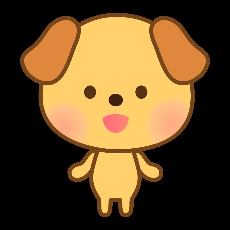 かわいい笑顔の犬のイラスト