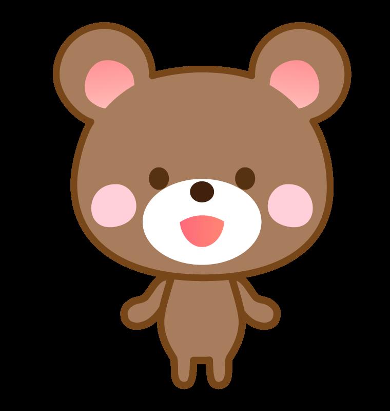 かわいいクマさんのイラスト