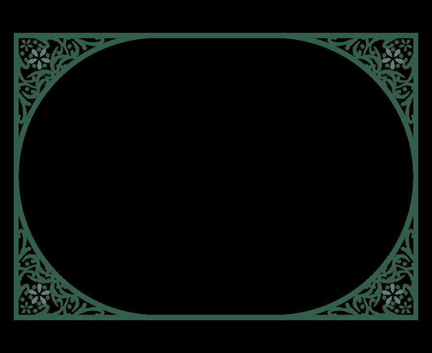 楕円形のエレガントなデザインのフレーム・飾り枠のイラスト