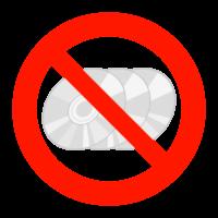 ディスクへのコピー禁止のイラスト