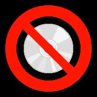 ディスクの使用禁止のイラスト