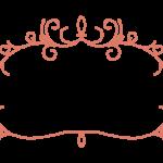 紐風ラインのフレーム・飾り枠のイラスト