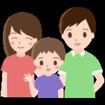 3人家族(ファミリー)のイラスト