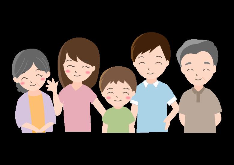 5人家族のイラスト