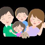 笑顔の家族(ファミリー)のイラスト