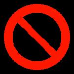 フェンスや柵越え禁止のイラスト