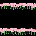 蓮華の花のフレーム・飾り枠のイラスト