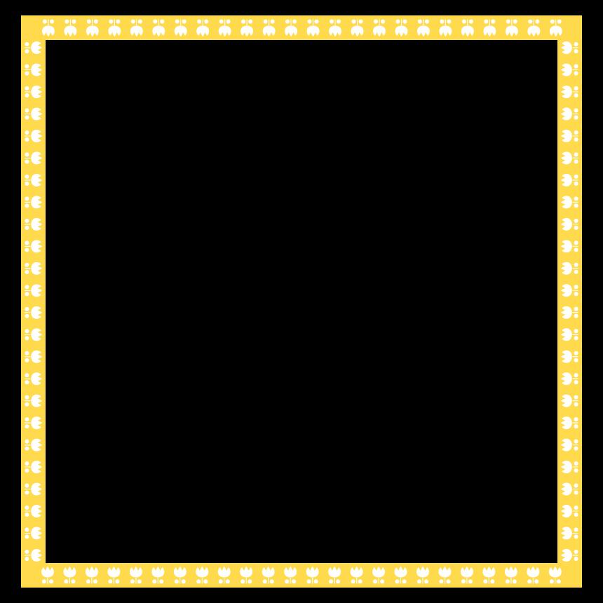チューリップの四角フレーム・飾り枠のイラスト
