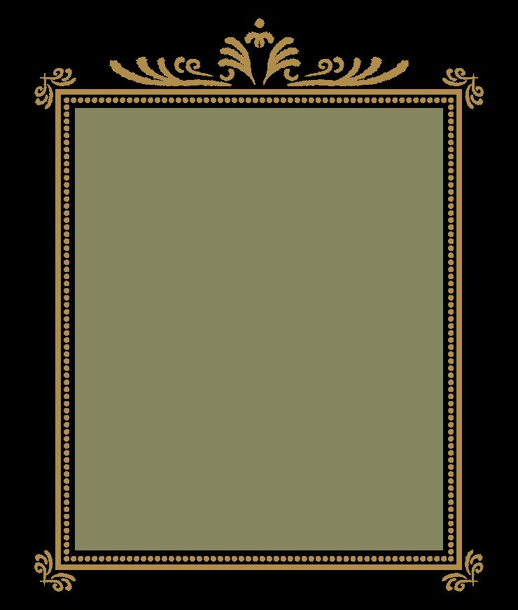 額縁風のエレガントなデザインのフレーム・飾り枠のイラスト