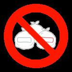ゴミ出し禁止のイラスト
