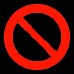 走るの禁止のイラスト