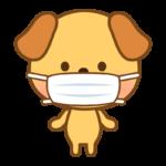 マスクをした犬のイラスト