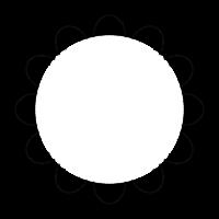 点線の円形の白黒フレーム・飾り枠のイラスト