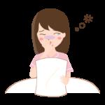 寝不足であくびをしているイラスト