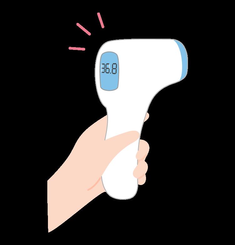 非接触型体温計のイラスト
