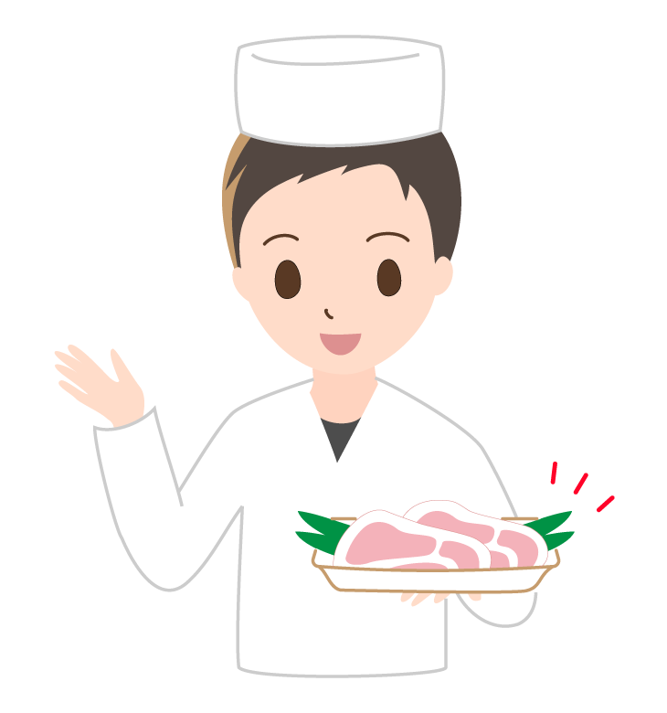 お肉屋さんのイラスト