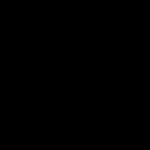白黒の五線譜のメロディのイラスト