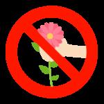 「花を採らないでください」のイラスト02