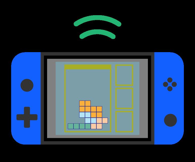 ポータルブルゲーム機のイラスト