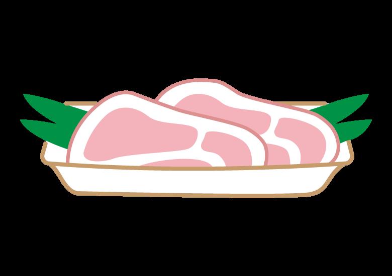 ロース肉のイラスト
